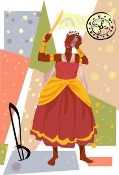 """DA SÉRIE CULTOS E MITOS AFRICANOS ORÍXÁS - ÓBÁ """"Deusa do Rio Obá"""" (W.W. da Mata) Da pasta Tradições, Mitologia, Ícones, Holismo."""