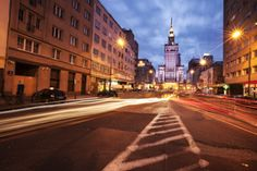 The Palace of Culture, as seen from Ul. Warsaw Poland, Palace, Street View, Culture, Gallery, Roof Rack, Palaces, Castles, Castle