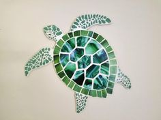 Custom order for Philip G. Sea Turtle Mosaic, Stained Glass and Crash Glass Turtle Art, Green Sea Turtle, Coastal Beach House Art Tile Art, Mosaic Art, Mosaic Glass, Glass Art, Mosaics, Sea Glass, Sea Turtle Painting, Sea Turtle Art, Sea Turtles