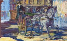 Jack Butler Yeats b London, 1871 d Dublin, 1957 Jack Butler, Art C Cars Hackney Cars, Irish Painters, Jack B, William Butler Yeats, Irish Art, Art Uk, Your Paintings, Contemporary Paintings, Sheep, Horses