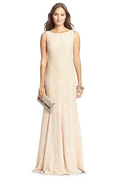 DVF Evangelina Lace Gown in Heaven