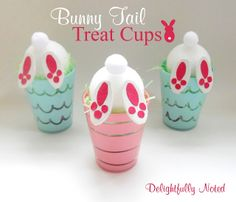 Who could resist a cute bunny tush? Kids will LOVE these adorable bunny treat cups for Easter!