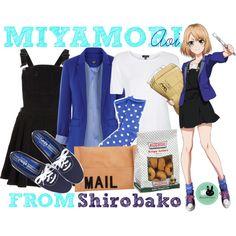 Miyamori Aoi, from Shirobako by blackrabbitmegapig on Polyvore featuring Topshop, Oasis, Plush, Keds and Akira