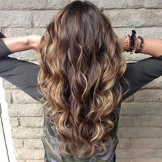 new curls! Balayage highlights. Sun kissed hair