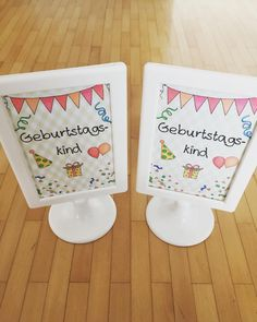 Für das Geburtstagskind Ich habe direkt 2 Ständer erstellt, da ganz häufig zwei Kinder nach dem Wochenende Geburtstag feiern. #lehreralltag #lehrerleben #grundschulliebe #grundschulideen #grundschule #grundschullehrerin #grundschulalltag #geburtstagskind #geburtstaginderschule