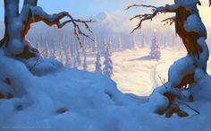JASON HORLEY concept art/matte painting/background painting - Background Painting