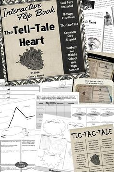 "Grab your students' attention with Edgar Allan Poe's creepy classic ""The Tell-Tale Heart"" -- this flip-book contains everything you need to teach this spooky story: literary analysis, critical thinking, writing prompts, grading rubrics, answer keys, and CCSS! Setting, characterization, mood, tone, theme, author's craft, plot diagram, symbolism, point of view, figurative language, and vocabulary are all included! Use in Interactive Notebooks, Interactive File Folders, or by itself!"