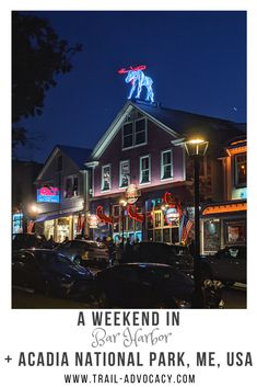 Bar Harbor, Maine is an adorable town with quick and easy access to Acadia National Park. Here are some great ideas of what to do during a long weekend in Maine, including Cadillac Mountain, Bar Island, and so much more! #maine #barharbor #travel #hiking #mountains #weekendtrip #falltrip #roadtrip #cadillacmountain #barisland Weekend Trips, Long Weekend, Acadia National Park, National Parks, Bar Harbor Maine, Travel Aesthetic, Travel Essentials, Travel Usa, North America