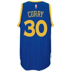 adidas Men's Stephen Curry Golden State Warriors Swingman Jersey ($110) ❤ liked on Polyvore featuring men's fashion, men's clothing, blue, men's apparel, mens jerseys and mens clothing