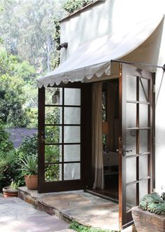The perfect awning #gardens