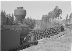 Raaka-ainevarastoa Riihimäellä, Riihimäki 13.4.1942. SA-kuva-arkisto.