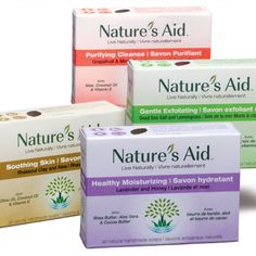 Four all natural skin benefiting handcrafted soap by Nature's Aid Natural Shampoo, Natural Skin Care, Make Up Tricks, Hair Shampoo, Naturally Beautiful, Bar Soap, Hair Type, Skin Care Tips, Healthy Skin