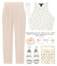 """I want everything – love, adventure, intimacy, work."" by exco ❤ liked on Polyvore featuring Nasty Gal, Miu Miu, Love 21, J.Crew, Forever 21, clean, floralprint, pastels and organized"