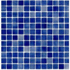 Kitchen back splash  Elida Ceramica�12-1/2-in x 12-1/2-in Recycled Glass Mosaic Deep Blue Ice Glass Wall Tile