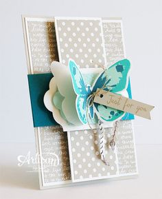 Stampin 'Cards and Memories: Stampin'Up! Artisan bloghop. Love this idea, colour scheme and backing papers
