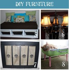 DIY Furniture make overs. I am all about personalization, and saving money. Great ideas!