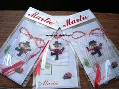 Spring Time, Cross Stitch Embroidery, Projects To Try, Gift Wrapping, Textiles, Homemade, Holiday Decor, Crochet, Baba Marta