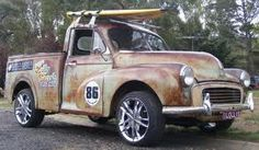 VINTAGE car enthusiasts can spend heaps of money and time faithfully restoring their pride and joys to original condition But others prefer to free Hot Rod Trucks, New Trucks, Morris Minor, Custom Vans, Drag Racing, Hot Cars, Dream Cars, Antique Cars, Classic Cars