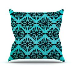 Eye Symmetry Pattern Throw Pillow