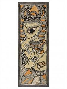Lord Ganesha Madhubani Artwork on Handmade Paper