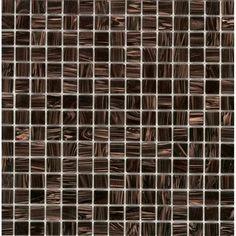 "Zoomed: Elida Ceramica 13"" x 13"" Mosaic Tiger Eye Glass Wall Tile"