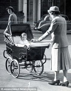 Prince Charles in a pram that all the best babies have, a Silver Cross. {Yes, I had one :) }
