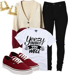 """""""Yeezy taught you well."""" by cheerstostyle ❤ liked on Polyvore"""