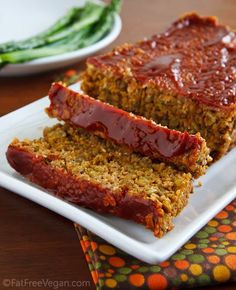 Dreena's No-fu Love Loaf, a vegan lentil loaf