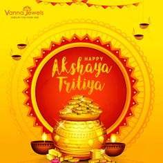 Sanskrit Word Akshaya means one that never diminishes. May this day of Akshaya Tritiya bring you good luck and success which never diminishes. Vanna Jewels wishing you a very happy Akshaya Tritiya Navratri Wishes, Vedic Mantras, Sanskrit Words, Wishes Images, Indian Festivals, Natural Diamonds, Good Books, Sai Ram, Happy