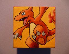 4 x 4 Custom Pokemon Painting by SlowpokePainting on Etsy Pokemon Painting, Tigger, Scooby Doo, Disney Characters, Fictional Characters, Unique Jewelry, Handmade Gifts, Paintings, Vintage