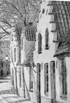 Brugge, middeleeuwse huisjes (poltlood), albums van oldshatterhand