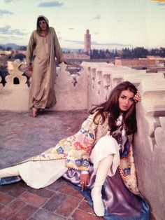 Talitha Getty photographed by David Bailey in Morocco.