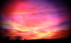 Sunset on horse back.