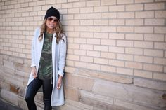 The Collaboration Blog: Street Style Swag: Camo + Leather  Grey Trench Coat > $29 @ Forever 21||  Camo Tee >$10  ||  Crooks & Castles Leather Pants > $29 on sale @ Community Service Boutique || Sneakers > $38 online @ ASOS || Black Neff Beanie > $16 @ PacSun || Honey Comb Pendant Necklace > $22 online @ Ily Couture  || Rings > $1 @ H&M || Sunglasses > $8 @ H&M  #thecollabblog #streetstyleswag #ootd #style #denverblogger