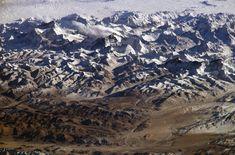 Vue d'une partie de l'Himalaya et du plateau Tibétain prise depuis la Station spatiale internationale.