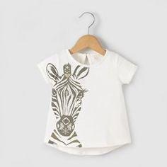 """T-shirt com purpurinas """"zebra"""", 1 mês-3 anos R baby"""