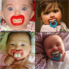 Creative Baby Pacifier ==> http://www.lovedesigncreate.com/billy-bob-two-front-teeth-baby-pacifier-pink-lips/