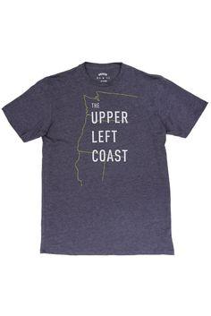 Upper Left Coast T-shirt by @bridgeandburn - life is good up here in the PNW.