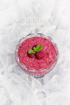budinca de chia cu zmeura 2 Chia Pudding, Learn To Cook, Chia Seeds, Raw Vegan, Easy Desserts, Raspberry, Sweet Treats, Deserts, Low Carb