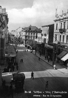 diaforetiko.gr : Σπάνιες ελληνικές φωτογραφίες που σίγουρα δεν έχετε ξαναδεί-Αθήνα,1930,οδός Γ Σεπτεμβρίου.