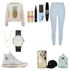 """""""Back to school 9th grade"""" by micahisaunicorn on Polyvore featuring Wildfox, River Island, Converse, JanSport, NIKE, Skinnydip and Yves Saint Laurent"""