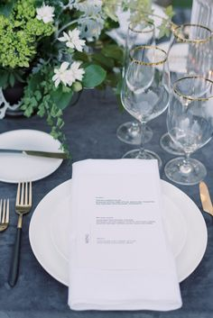 La Tavola Fine Linen Rental: Velvet Charcoal with Tuscany White Napkins | Photography: Catie Ann Photography, Floral Design: Tyler Speier Events, Planning: L&C Events, Venue: Hidden Oaks Ranch, Rentals: The Tent Merchant, Paper Goods: Jessica Yee Calligraphy
