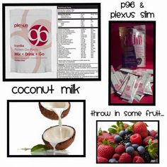 Try this delicious and nutritious protein shake using, Plexus 96 protein, Plexus Slim, coconut milk, and fresh berries!  threeboys.myplexusproducts.com