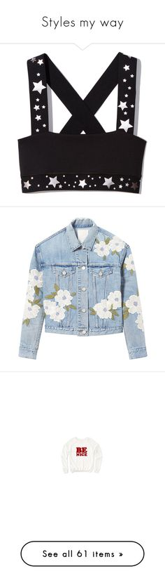 """""""Styles my way"""" by allymaepiercey ❤ liked on Polyvore featuring activewear, sports bras, outerwear, jackets, rebecca taylor jacket, blue jackets, floral embroidered jacket, rebecca taylor, tops and hoodies"""