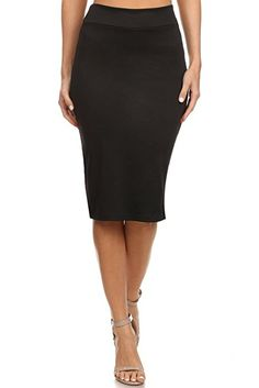 1aadd87114 Suiting & Blazers USA Faux Leather Pencil Skirt Below Knee Length Skirt  Midi Bodycon Skirt for Womens