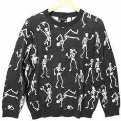Dancing Skeletons Halloween Tacky Ugly Sweater from The Ugly Sweater Shop. Saved to Ugly Sweaters for Guys. Sweater Shop, Ugly Sweater, Halloween Skeletons, Being Ugly, Christmas Sweaters, Dance, Guys, Sweatshirts, Autumnal