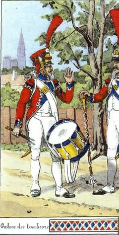 French; 30th Line Infantry, Grenadier Drummer in Summer Full Dress( note the swallows nests which are absent from the Leroux) by Bucquoy