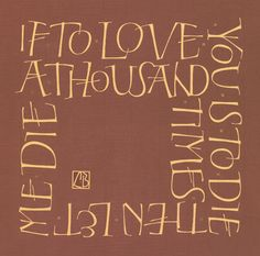 ":: Liesbet Boudens Letters :: ""If to love is to die..."""