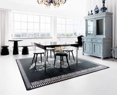 The Marcel Wanders Studio, Amsterdam, created a beautiful dining room set.