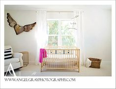 Project Nursery - Simple and Airy White and Gold Nursery